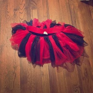 Black and red tutu